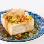 Steamed Tofu with Garlic Soy Dressing