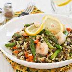 Warm Asparagus and Wild Rice Salad