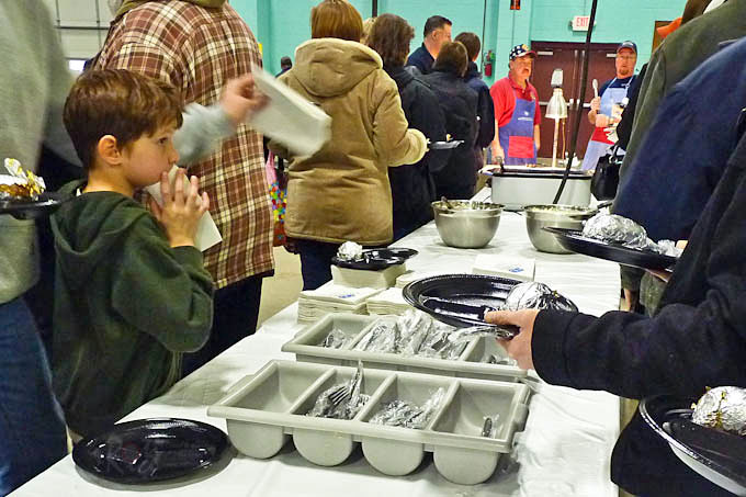 The Knights of Columbus annual Friday Fish Fry during Lent. It is a festive community event complete with live entertainment. | RotiNRice.com