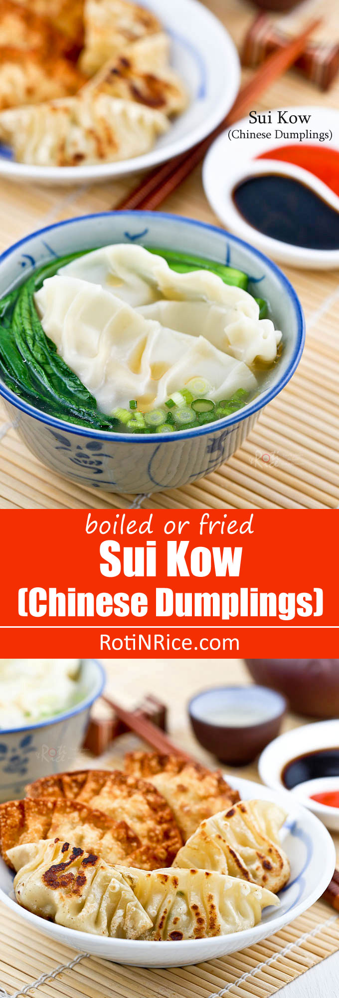 Sui Kow (Chinese Dumplings) are delicious fan shaped dumplings served ...