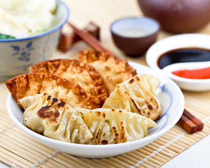 Sui Kow (Chinese Dumplings) are delicious fan shaped dumplings served ...