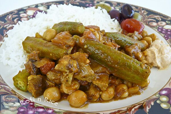 Okra and Chickpea Stew