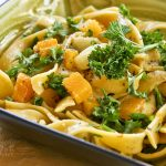 Butternut Squash Fettuccini with Roasted Garlic