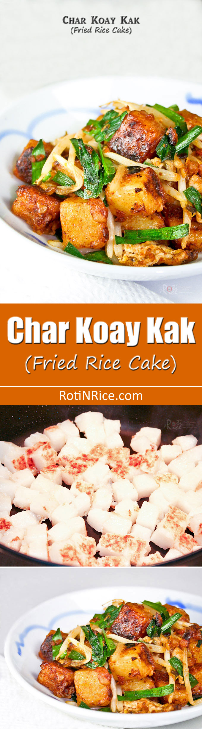 Prepare your own amazingly tasty Char Koay Kak (Fried Rice Cake), a popular Penang street food. Very quick and easy using prepackaged rice cake. | RotiNRice.com