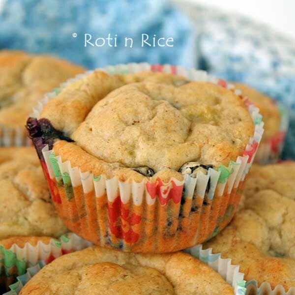 Gluten-Free Banana Blueberry Muffins