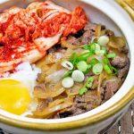 Gyudon with Kimchi and Onsen Tamago