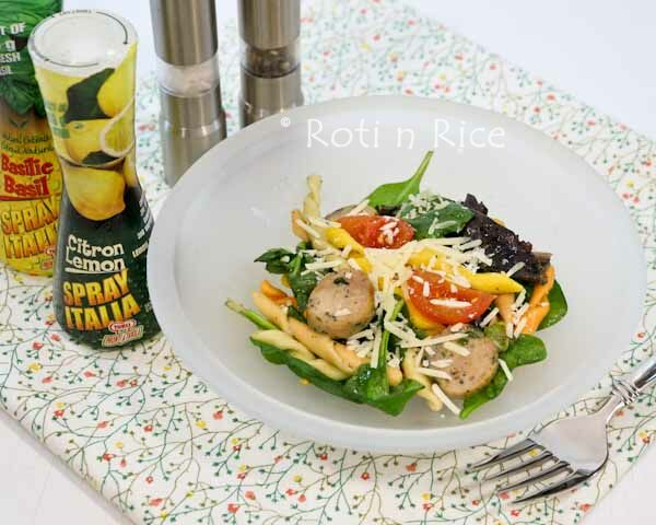 Fusilli Chicken Sausage Salad