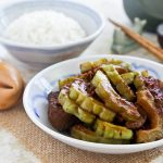 Braised Pork Ribs and Bitter Gourd in Black Bean Sauce