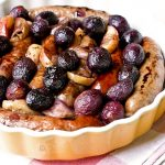 Roasted Italian Sausage with Grapes and Apples