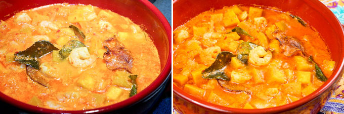 Nyonya Style Pumpkin and Shrimp Curry-10