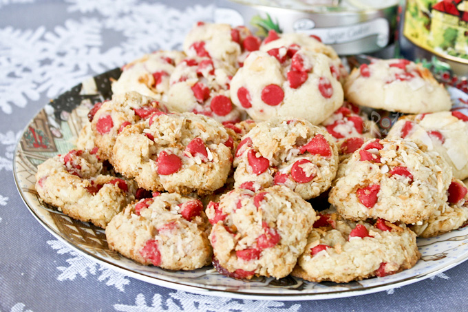 Gluten-Free Coconut Cherry Chip Cookies