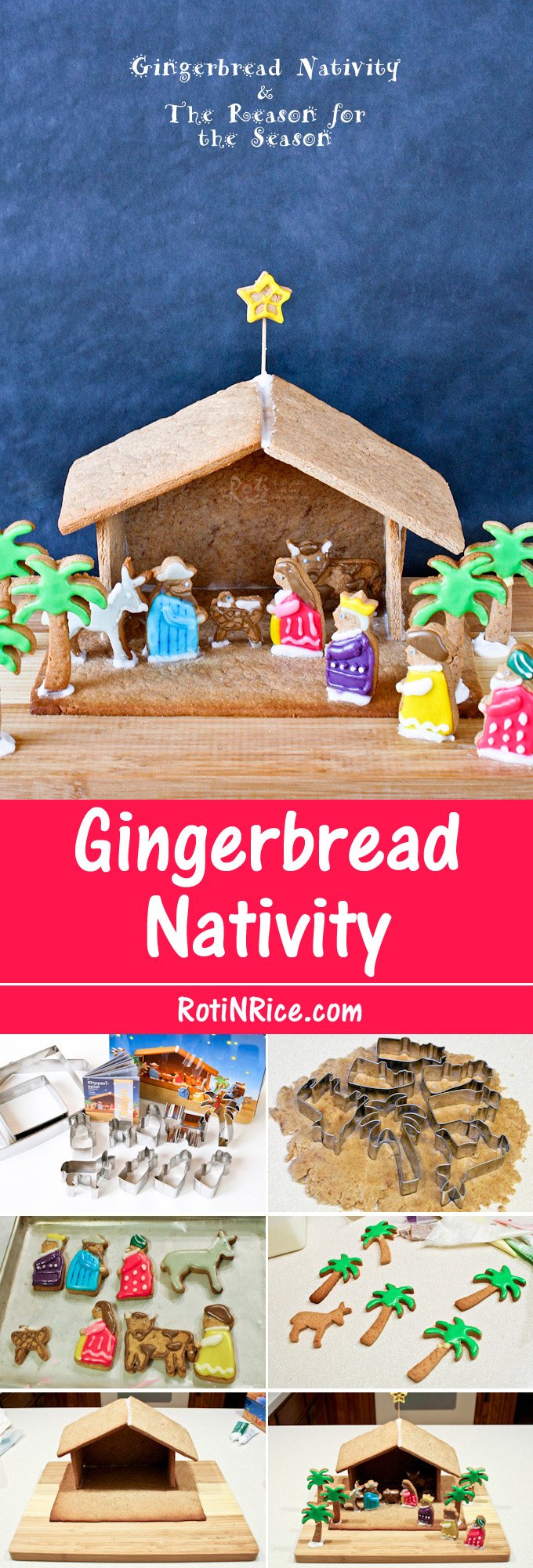 Make a Gingerbread Nativity with your family this Advent season. It is a fun and tasty way to explore the story of the first Christmas. | RotiNRice.com