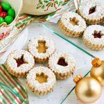 Lavender Linzer Cookies