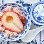 Poached Pears with White Fungus and Red Dates
