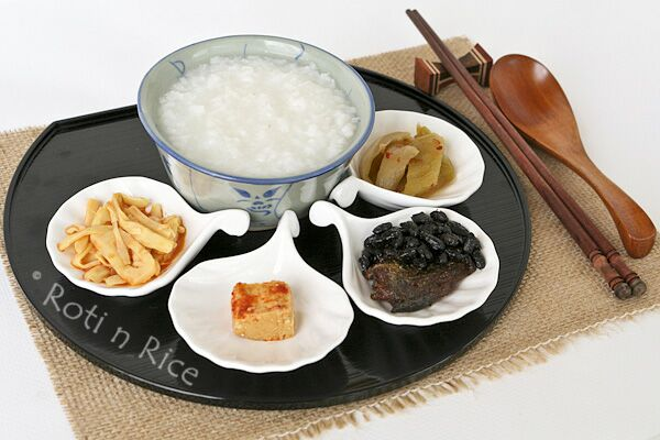 Plain Rice Porridge (Congee)