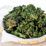 Crispy Kale Chips Seasoned with Garam Masala