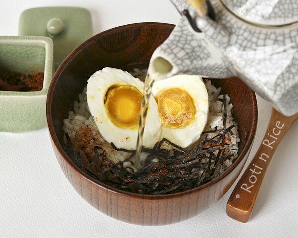 Ochazuke with Salted Egg