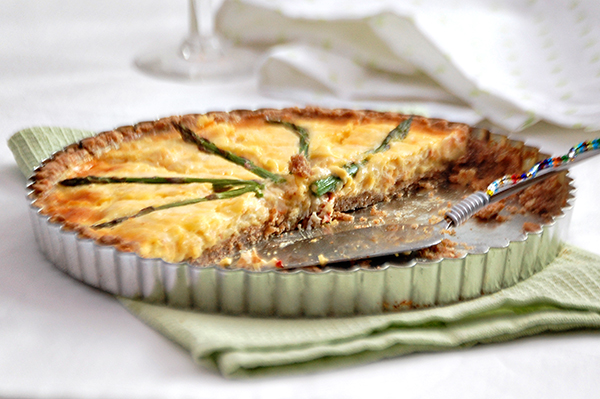 Crab and Asparagus Quiche