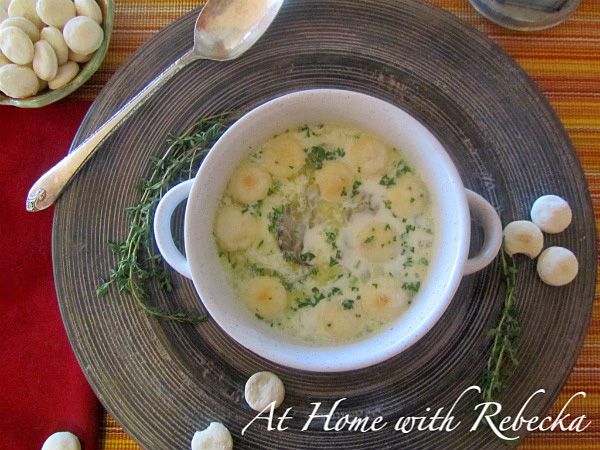 Oyster Stew with homemade Oyster Crackers
