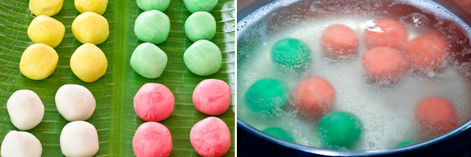 Tang Yuan (Glutinous Rice Balls) with Red Bean Paste Filling-10