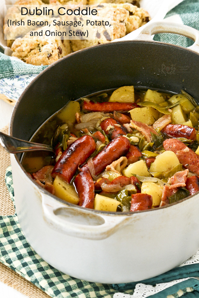 Dublin Coddle (Irish Bacon, Sausage, Potato, and Onion Stew)
