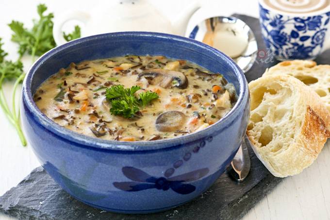 Chicken Wild Rice Soup - Roti n Rice