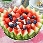 Watermelon, Feta, and Blueberry Salad