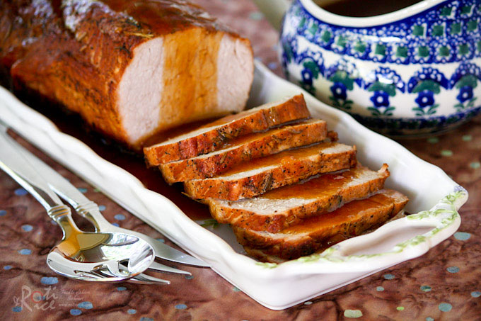 Deliciously moist Marmalade Pork Loin Roast cooked slowly in a Dutch oven until fork tender. Excellent for a weekend dinner or special occasion. | RotiNRice.com