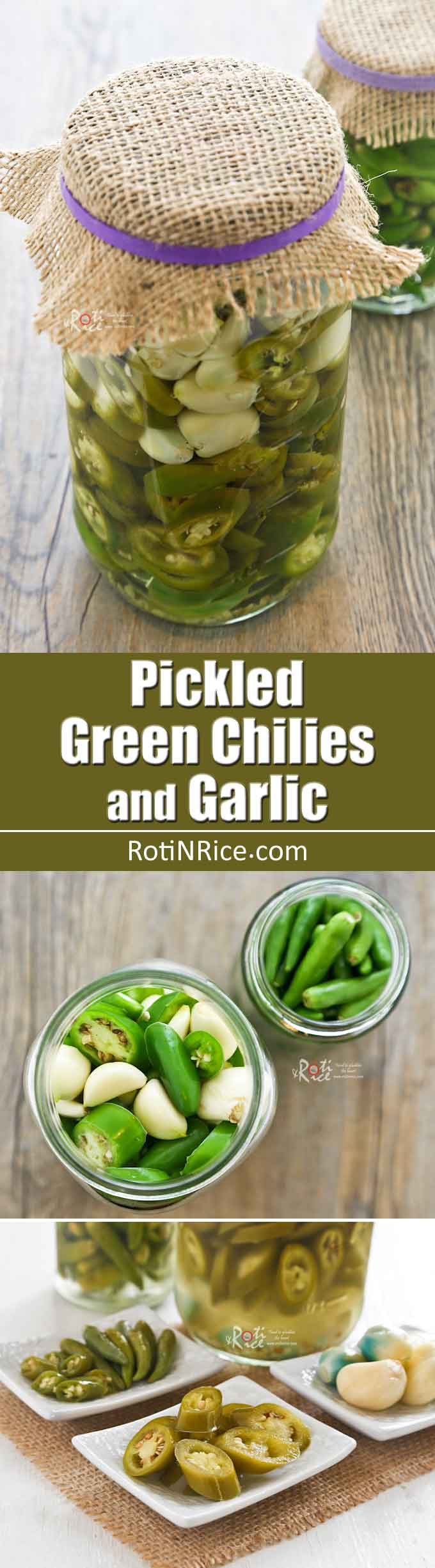 Pickled Green Chilies and Garlic are wonderful eaten with noodles ...