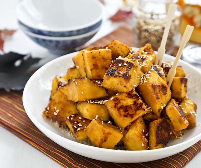 Pan Fried Miso Butter Pumpkin