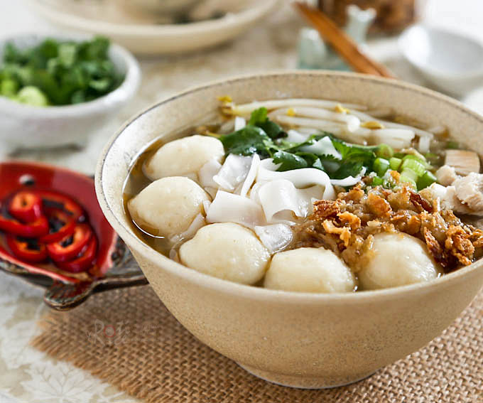 Turkey Fish Ball Koay Teow Soup