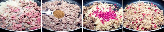 Beefy Pomegranate Quinoa Stuffed Poblanos-7