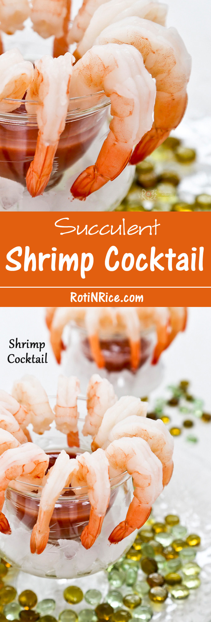 A delightful succulent Shrimp Cocktail with a slightly spicy and tangy tomato and horseradish sauce to start off your meal or holiday party. | Food to gladden the heart at RotiNRice.com