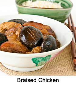 CNY2014-Braised Chicken with Dark Soy Sauce and Mushrooms