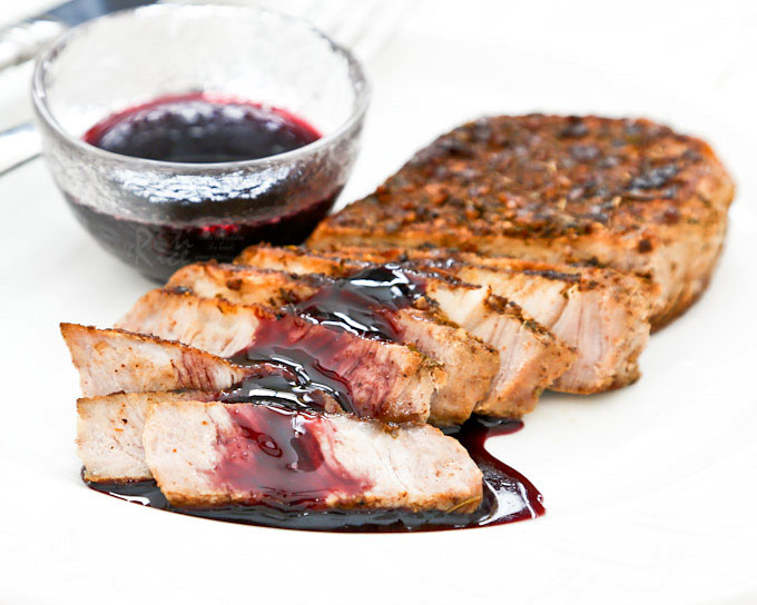These tender and juicy Pan Roasted Pork Loin Chops are perfect for weeknight meals. Flavor them with your favorite dry rub. Only minutes to prepare. | RotiNRice.com