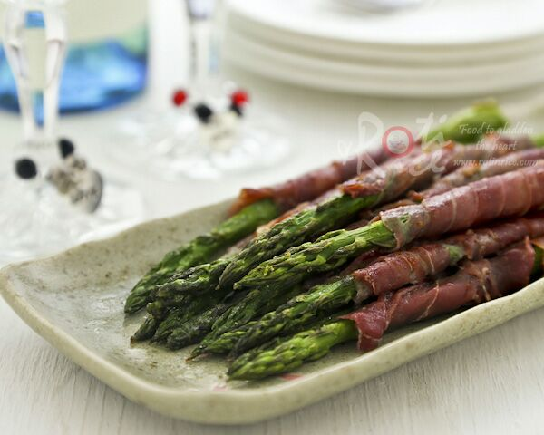 Broiled Prosciutto Wrapped Asparagus