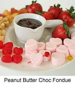 Val2014-Peanut Butter Chocolate Fondue