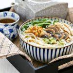 Chicken Mushroom Udon Soup
