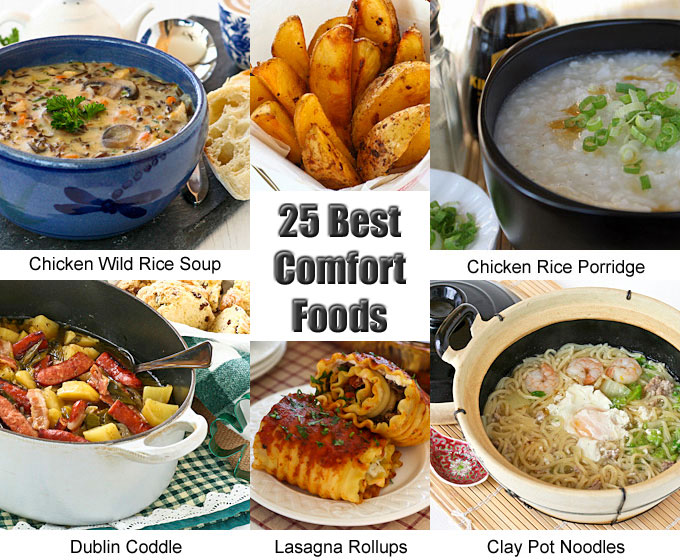 25 Best Comfort Foods to prepare as the weather cools down. Choose from warm and delicious appetizers, soups, side dishes, main dishes, and noodles.   RotiNRice.com
