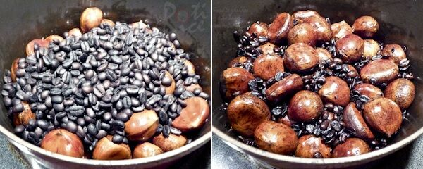 Chestnuts should be cooked after 30 minutes. Transfer to bowl and ...