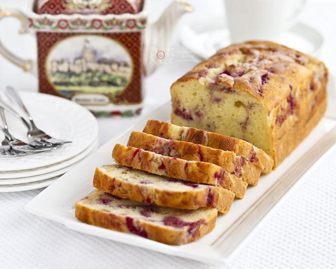 Raspberry Swirl Cream Cheese Pound Cake