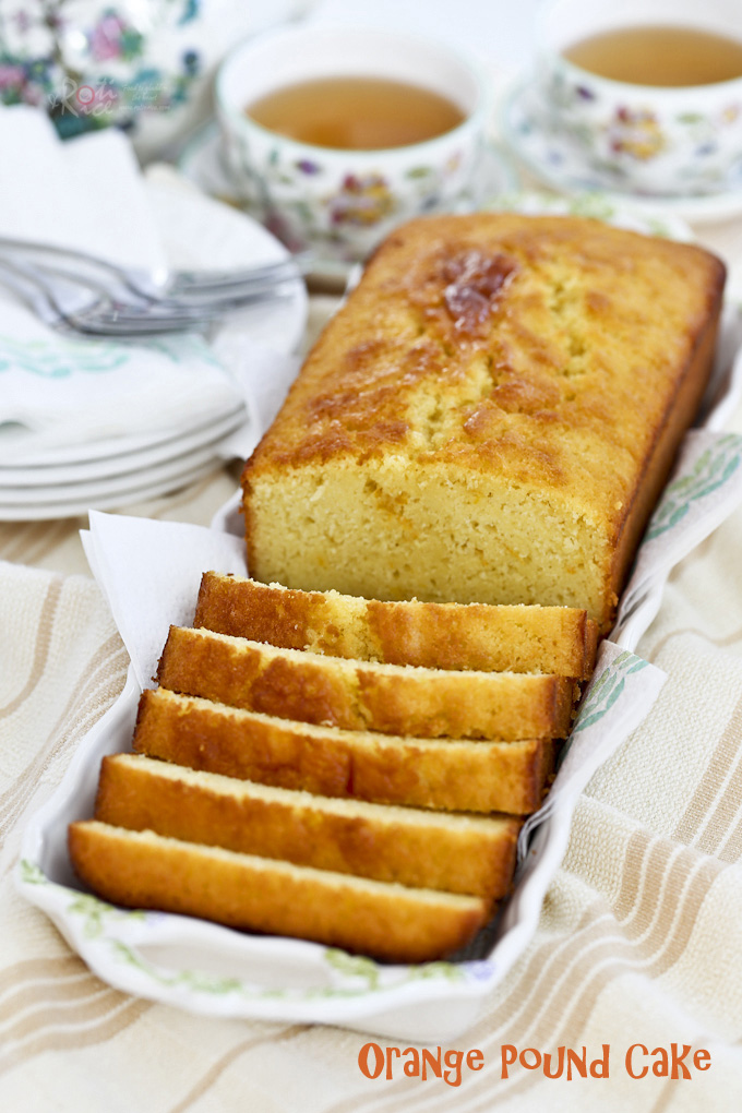 Fragrant, moist, and tender Orange Pound Cake flavored with freshly squeezed orange juice and orange zest. Perfect for snack time or tea time. | RotiNRice.com