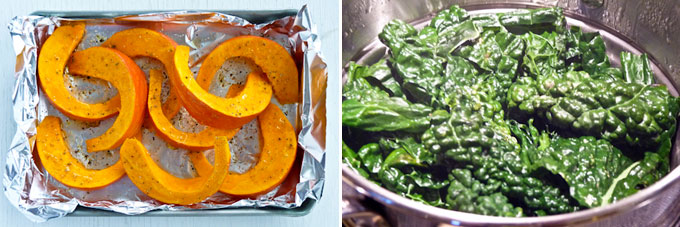 Kabocha Kale Salad with Miso Butter Sauce-1