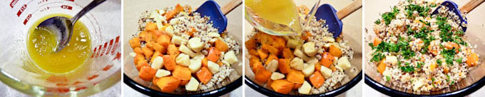 Quinoa Salad with Kabocha and Roasted Garlic-2