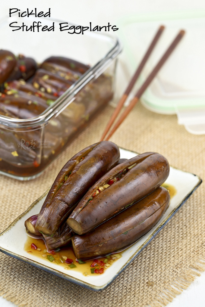 Pickled Stuffed Eggplants