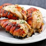 These Grilled Lobster Tails are the ultimate appetizers. Only minutes to prepare and absolutely delicious hot off the grill.| Food to gladden the heart at RotiNRice.com