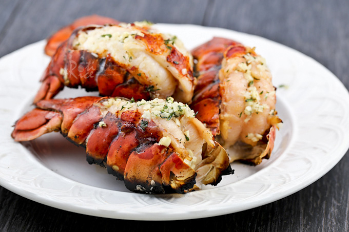 These Grilled Lobster Tails are the ultimate appetizers. Only minutes to prepare and absolutely delicious fresh off the grill.| RotiNRice.com