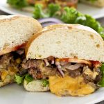 These Molten Cheese Burger oozing with melted cheese and flavor are the juiciest hamburgers you ever tasted. They are a must try! | RotiNRice.com