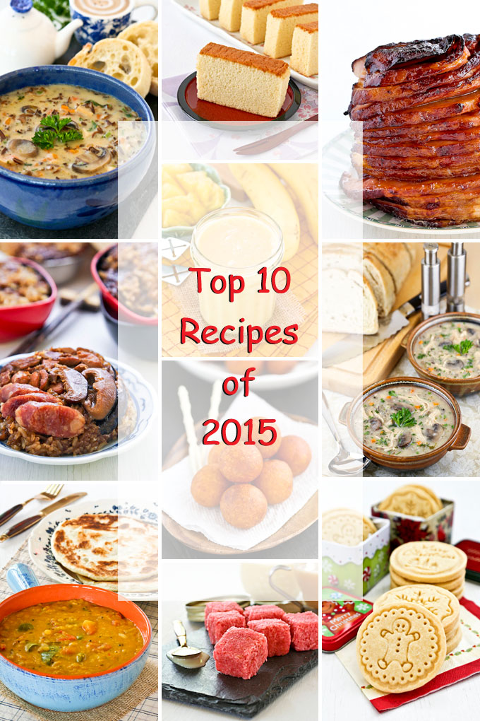 Top 10 Recipes of 2015 - the most pinned, shared, and viewed recipes on Roti n Rice. | RotiNRice.com