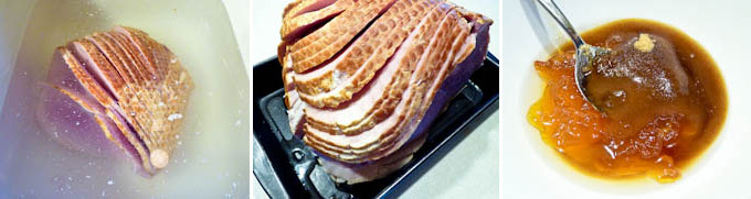Baked Ham with Marmalade Almond Crust-4